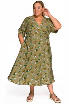 """Платье """"ЛаТэ"""" 2232201 (Принт оливковый)"""