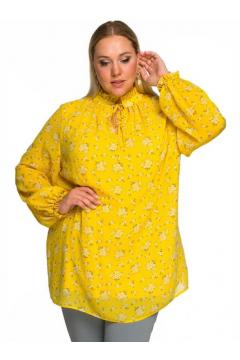 "Блуза ""ЛаТэ"" 2232402 (принт нежно-желтый)"