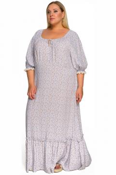 """Платье """"ЛаТэ"""" 2231902 (принт """"розочка на нежно-голубом"""")"""