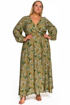 """Платье """"ЛаТэ"""" 2233701 (принт оливковый)"""