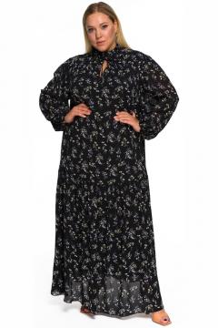 """Платье """"ЛаТэ"""" 2232301 (Принт цветочный на черном)"""