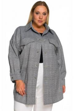 """Рубашка """"ЛаТэ"""" 2232102 (Клетка серая)"""