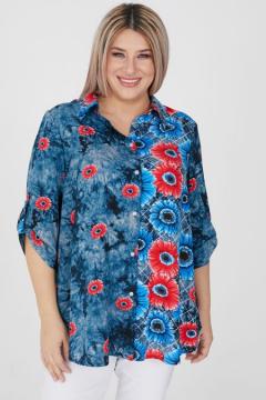 """Рубашка """"Luxury Plus"""" 1195 (Синий)"""