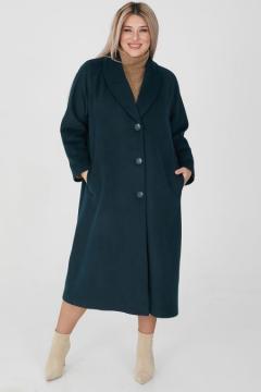 """Пальто """"Luxury Plus"""" 1176 (Темно-зеленый)"""