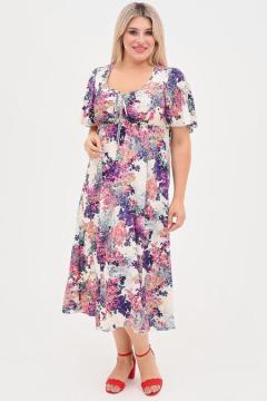 """Платье """"Luxury Plus"""" 1058 (Молочный)"""