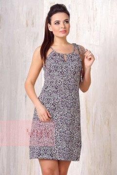 Платье женское 3184 (Леопард темное молоко)