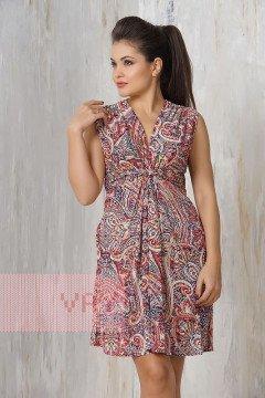 Платье женское 3205 (Мозайка красный)