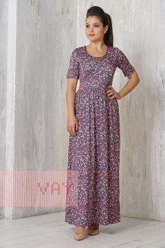 Платье женское 3295 (Джинс лужайка)