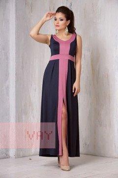 Платье женское 3305 (Темно-синий/клевер)