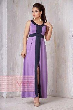 Платье женское 3305 (Сирень/темно-синий)