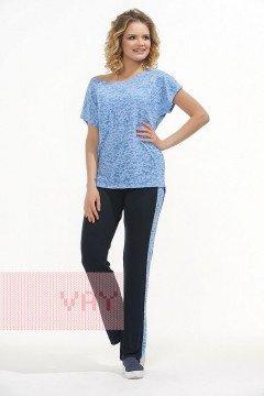 Брюки женские 3406 (Темно-синий/голубой)