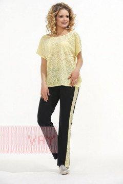 Брюки женские 3406 (Черный/желтый)