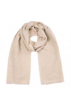 Палантин текстильный бежевый PS 1633 5