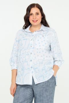 """Рубашка """"Шаганэ"""" (Голубой)"""