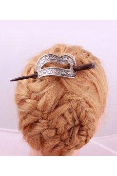"""Заколка для волос """"Добрая гейша"""" (Дерево, Металл)"""