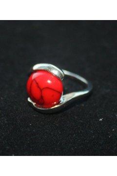 "Кольцо красное ""Красно солнышко"" (Коралл)"