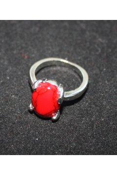 """Кольцо красное """"Красная слеза"""" (Коралл)"""