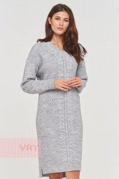 Платье женское 192-2424 (125 св. серый меланж)