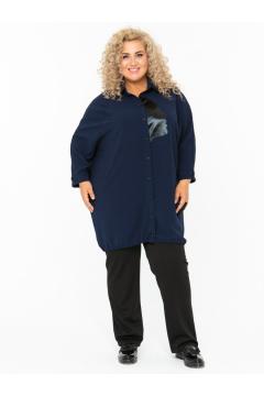 Блузка 140107304 (Синий)