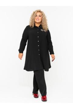 Блузка 140107601 (Черный)