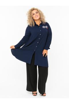 Блузка 140107604 (Синий)