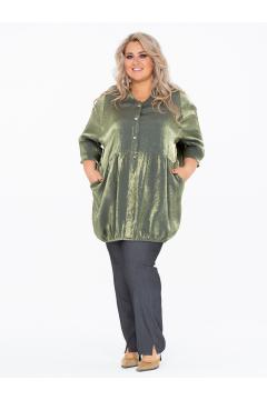 Блузка 150109821 (Оливковый)
