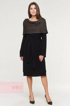 Платье женское 192-2415 (Черный/черненая бронза)