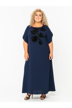 Платье 140203404 (Синий)
