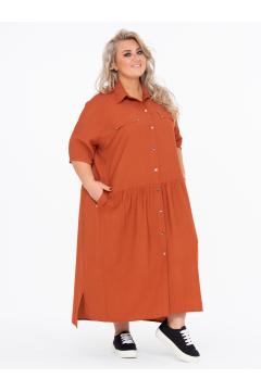 Платье 150203816 (Терракотовый)